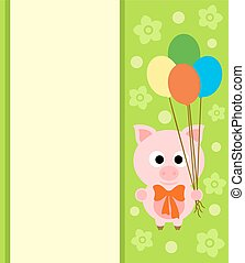 Background card with pig
