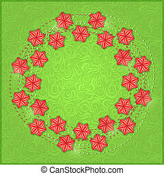 Background Card with Red Flowers.