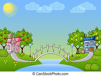 background cartoon house