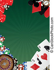 illustration of object casino with blank green space