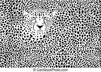 Background cheetah skins and head.eps