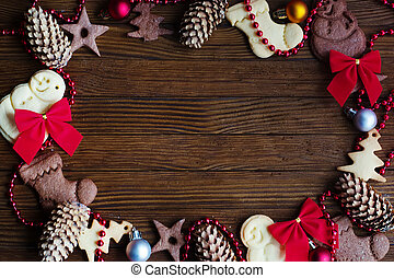background Christmas cookie