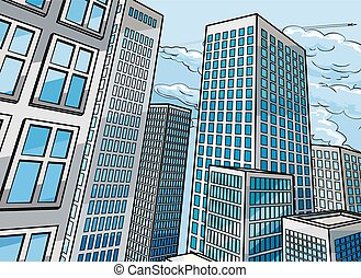 Background City Buildings