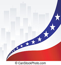 Background with elements of U.S. Flag