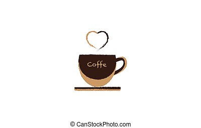 Background coffee cup with heart