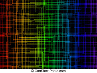 background color in the intersecting strips