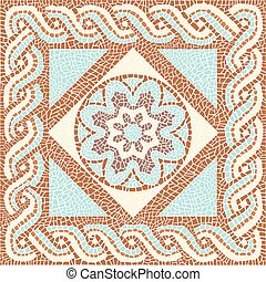 Background color mosaic in the ancient style