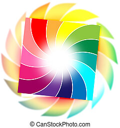 Background Color Shows Spiral Spiralling And Whirling