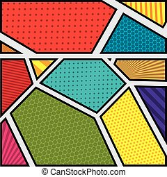 background colorful abstract in pop art