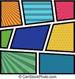 background colorful abstract in pop art with radial lines
