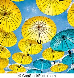 Background colorful umbrella