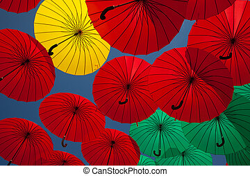 Background colorful umbrella