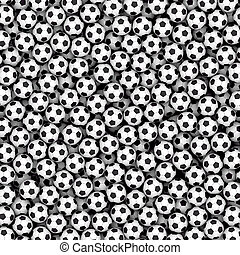 Background composed of many soccer balls. High resolution 3D...
