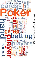 Background concept wordcloud illustration of gambling...