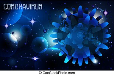 Background Coronavirus Covid-19 infects planet Earth. vector illustration