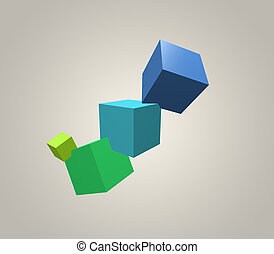 background:, cubes, 3d, coloré