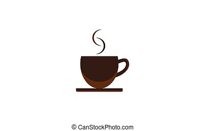 Background cup of coffee