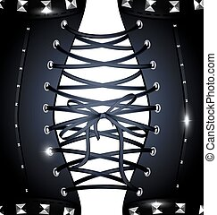 background dark metal corset