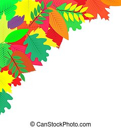 background decorated with colorful autumn leaves