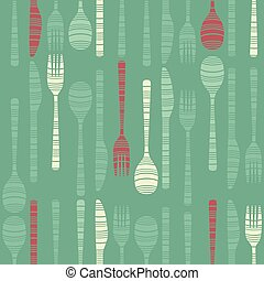 Background decorated with cutlery