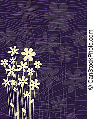 background decorated with flower