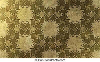 Background design based on oriental graphic motifs.