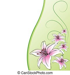 Background design lily flowers