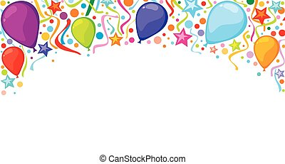 background design with balloons