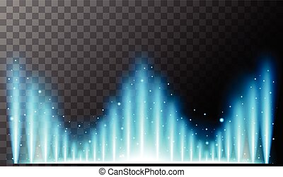 Background design with blue light