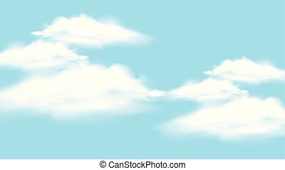 Background design with blue sky