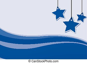 Background design with blue stars