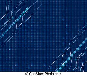 Background design with blue theme