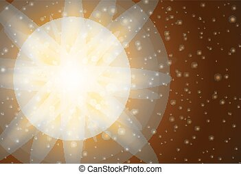 Background design with bright light