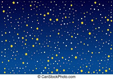 Background design with bright stars