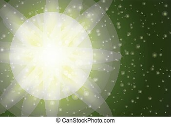 Background design with green light