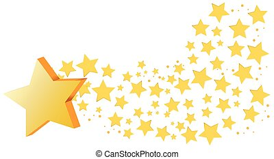 Background design with many stars
