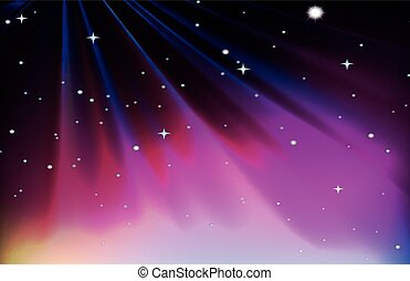 Background design with red and purple sky