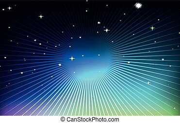 Background design with stars at night