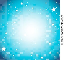 Background design with stars on blue