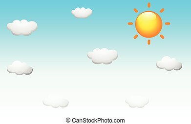 Background design with the sun in the sky