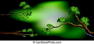 Background design with three branches