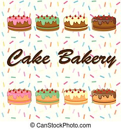 Background desing with cakes