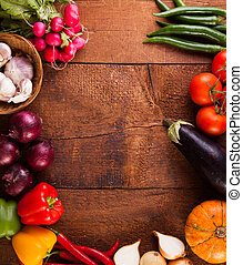 different vegetables - background different vegetables on a...