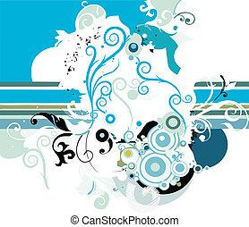 background - Grunge flower background
