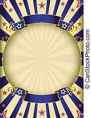 Background entertainment - a circus vintage poster with a...