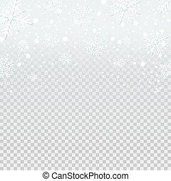 background., falling, снег, фон, прозрачный