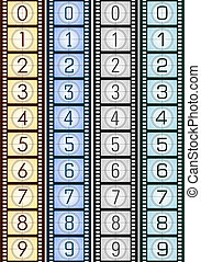 Background Filmstrip - Concept of Industry cinematographic.