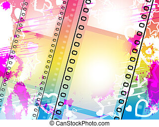 Background Filmstrip Indicates Text Space And Blank