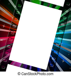Background Filmstrip Means Empty Space And Abstract