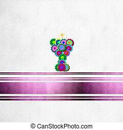 background first communion reminder, cheerful calyx